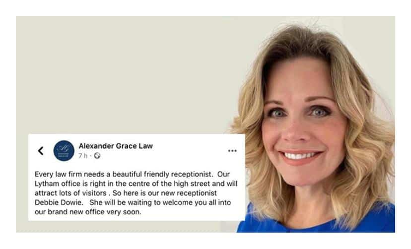 """Lytham law firm cause outrage as take to Facebook to introduce their """"beautiful"""" receptionist"""