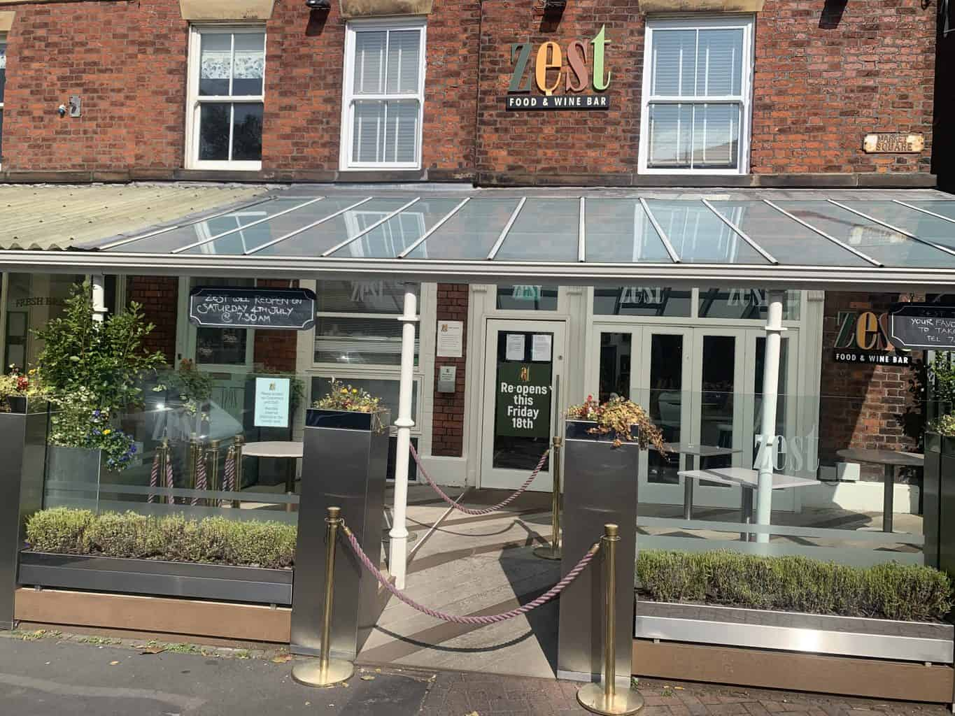 Zest to Reopen THIS Friday after Covid Clean