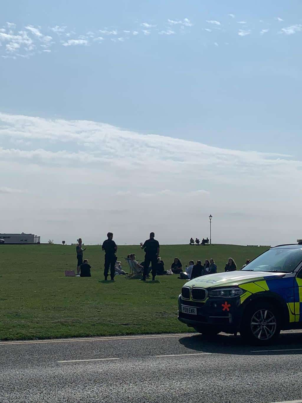 Police On Scene Lytham Green Separating Groups Over Six