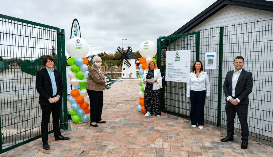 The Mayor Of Fylde Officially Opens The Fairhaven Adventure Golf